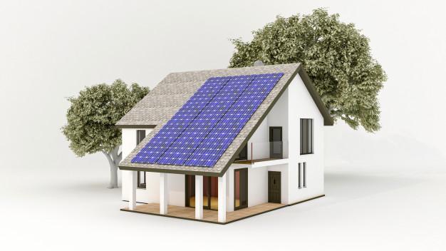 instalacja fotowoltaiczna na dachu domu