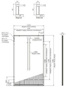 Wymiary panela słonecznego LG
